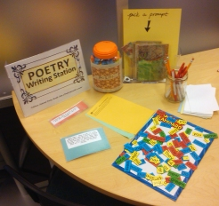 Poetry Writing Station